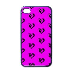 Lovely Hearts 17c Apple Iphone 4 Case (black) by MoreColorsinLife