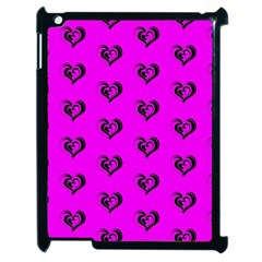 Lovely Hearts 17c Apple Ipad 2 Case (black) by MoreColorsinLife