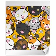 Cats Cute Kitty Kitties Kitten Canvas 16  X 20   by BangZart