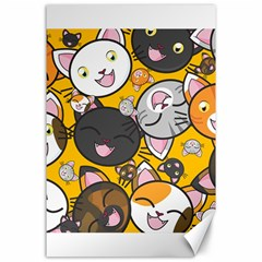Cats Cute Kitty Kitties Kitten Canvas 24  X 36