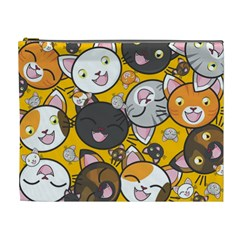 Cats Cute Kitty Kitties Kitten Cosmetic Bag (xl) by BangZart