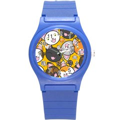 Cats Cute Kitty Kitties Kitten Round Plastic Sport Watch (s)
