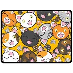 Cats Cute Kitty Kitties Kitten Double Sided Fleece Blanket (large)  by BangZart