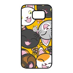 Cats Cute Kitty Kitties Kitten Samsung Galaxy S7 Edge Black Seamless Case