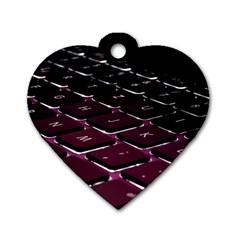 Computer Keyboard Dog Tag Heart (one Side)