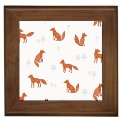Fox Animal Wild Pattern Framed Tiles