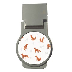 Fox Animal Wild Pattern Money Clips (round)