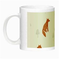 Fox Animal Wild Pattern Night Luminous Mugs
