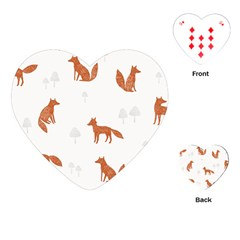 Fox Animal Wild Pattern Playing Cards (heart)