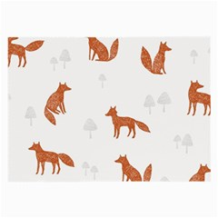 Fox Animal Wild Pattern Large Glasses Cloth (2 Side) by BangZart