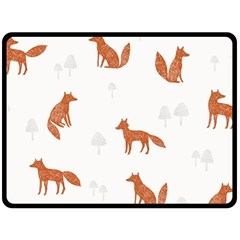 Fox Animal Wild Pattern Fleece Blanket (large)