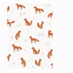 Fox Animal Wild Pattern Small Garden Flag (two Sides)