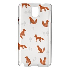 Fox Animal Wild Pattern Samsung Galaxy Note 3 N9005 Hardshell Case by BangZart