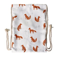 Fox Animal Wild Pattern Drawstring Bag (large)