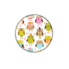 Cute Owls Pattern Hat Clip Ball Marker (10 Pack)