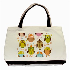 Cute Owls Pattern Basic Tote Bag