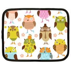 Cute Owls Pattern Netbook Case (large)