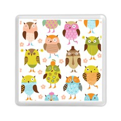 Cute Owls Pattern Memory Card Reader (square)