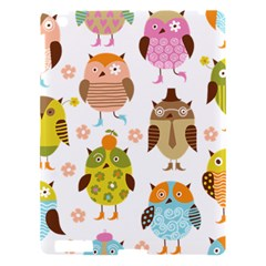 Cute Owls Pattern Apple Ipad 3/4 Hardshell Case by BangZart
