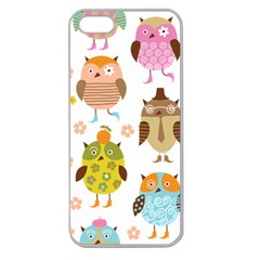 Cute Owls Pattern Apple Seamless Iphone 5 Case (clear)