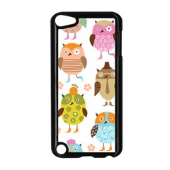 Cute Owls Pattern Apple Ipod Touch 5 Case (black)