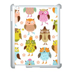 Cute Owls Pattern Apple Ipad 3/4 Case (white) by BangZart