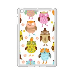 Cute Owls Pattern Ipad Mini 2 Enamel Coated Cases