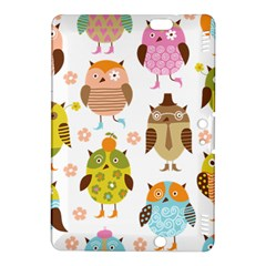 Cute Owls Pattern Kindle Fire Hdx 8 9  Hardshell Case by BangZart