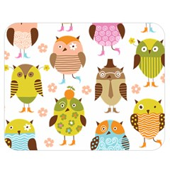 Cute Owls Pattern Double Sided Flano Blanket (medium)