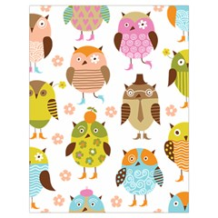 Cute Owls Pattern Drawstring Bag (large)