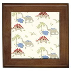 Dinosaur Art Pattern Framed Tiles