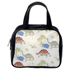 Dinosaur Art Pattern Classic Handbags (one Side)