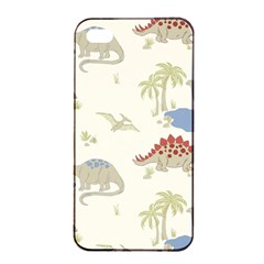 Dinosaur Art Pattern Apple Iphone 4/4s Seamless Case (black)