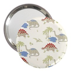 Dinosaur Art Pattern 3  Handbag Mirrors
