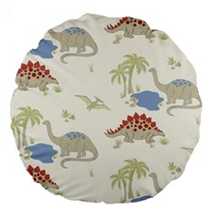 Dinosaur Art Pattern Large 18  Premium Round Cushions by BangZart
