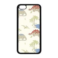 Dinosaur Art Pattern Apple Iphone 5c Seamless Case (black)
