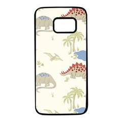 Dinosaur Art Pattern Samsung Galaxy S7 Black Seamless Case