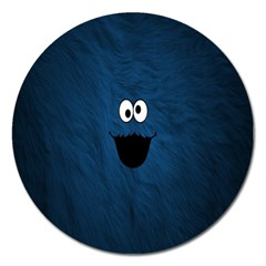 Funny Face Magnet 5  (round) by BangZart