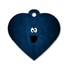 Funny Face Dog Tag Heart (two Sides)