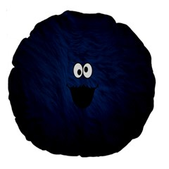 Funny Face Large 18  Premium Round Cushions by BangZart