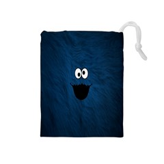 Funny Face Drawstring Pouches (medium)