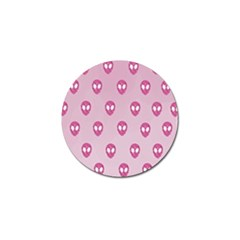 Alien Pattern Pink Golf Ball Marker (10 Pack) by BangZart