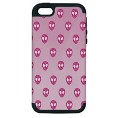 Alien Pattern Pink Apple Iphone 5 Hardshell Case (pc+silicone)