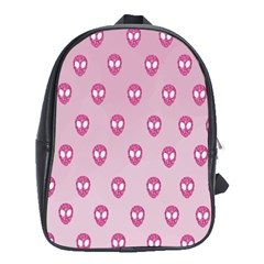 Alien Pattern Pink School Bags (xl)