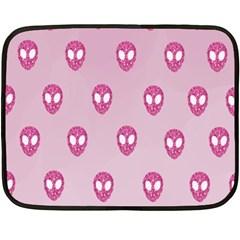 Alien Pattern Pink Double Sided Fleece Blanket (mini)