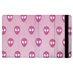Alien Pattern Pink Apple Ipad 3/4 Flip Case