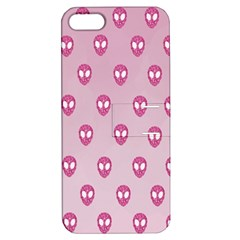 Alien Pattern Pink Apple Iphone 5 Hardshell Case With Stand