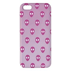 Alien Pattern Pink Iphone 5s/ Se Premium Hardshell Case