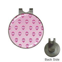 Alien Pattern Pink Hat Clips With Golf Markers