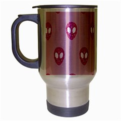Alien Pattern Pink Travel Mug (silver Gray)